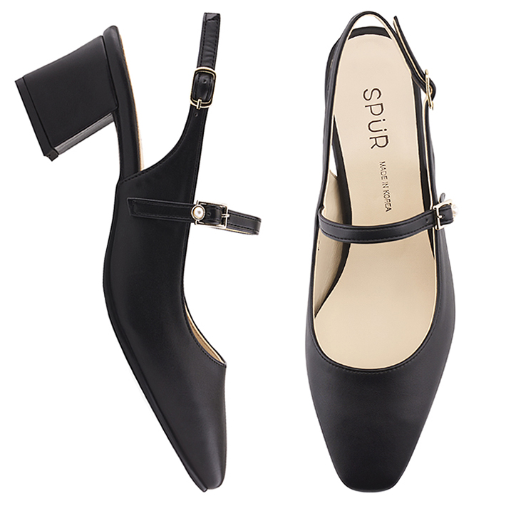 SPUR[스퍼]PS9018 Maryjanes sling back 블랙